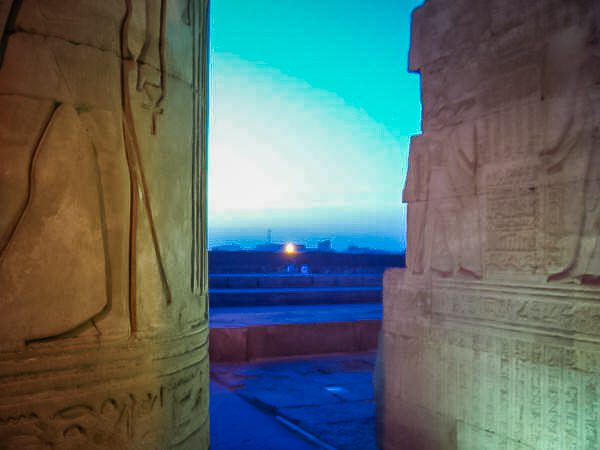 037.Sunset at Kom Ombo temple