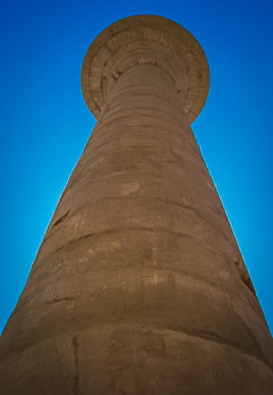 129.Papyrus top column at Karnak