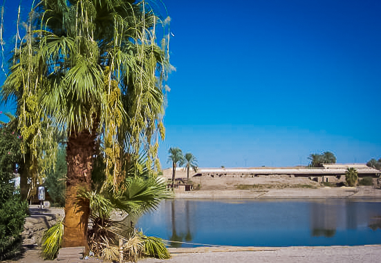 139.The sacred lake at Karnak