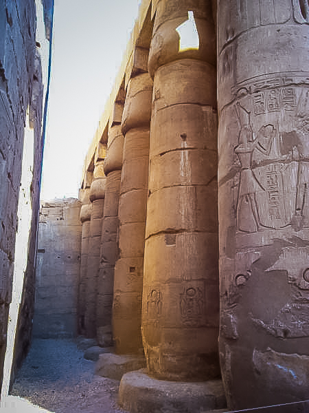 148.Colums at Luxor Temple