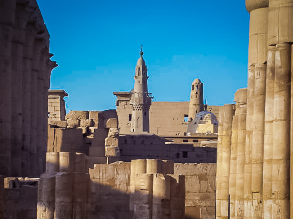160.Mosque at Luxor Temple