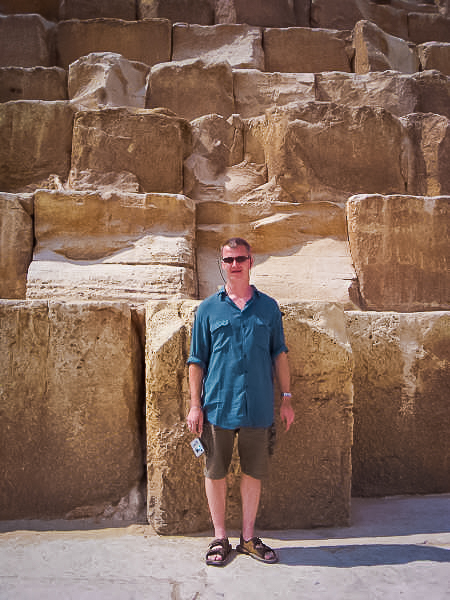 177.Rob at the foot of Cheops pyramid