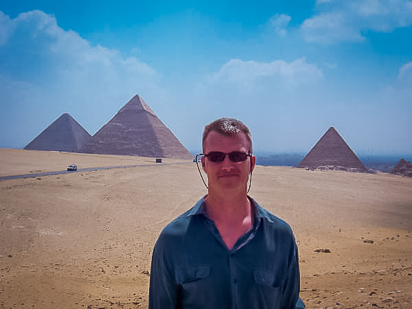 181.Rob at the 3 pyramids of the Giza Plateau