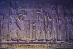 035.Offerings to the god Sobek, who symbolises the produce of the Nile and fertility