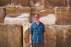 177.Rob at the foot of Cheops pyramid