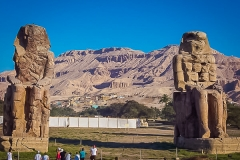 182.Colossi of Memnon. These 2 used to guard the mortuary temple of Amenophis III