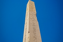 136.Granite obelisk of Hatshepsut at Karnak, dedicated to God Amon Ra, 97ft 323 tons, tallest in Egypt