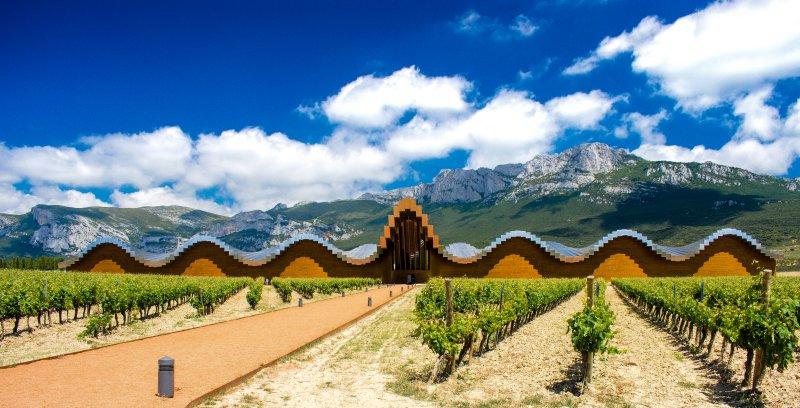 Bodegas Ysios designed by Spanish Architect Santiago Calatrava