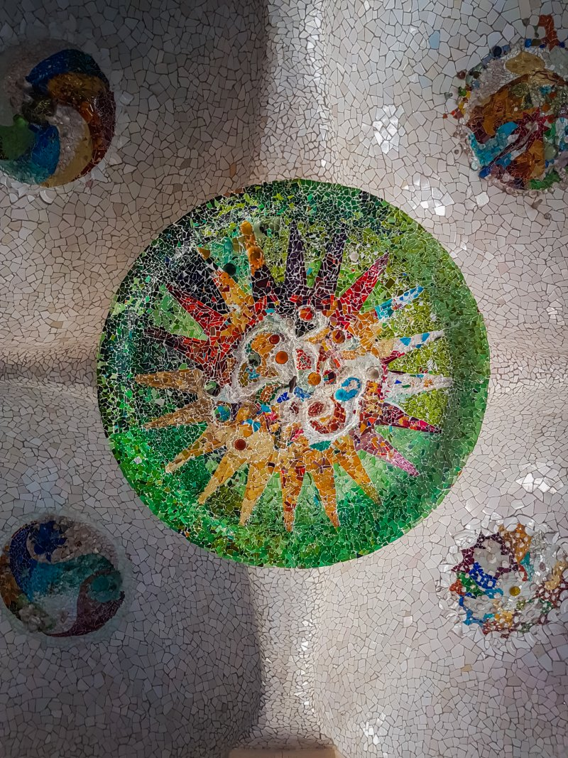 Park Guell ceiling mosiac