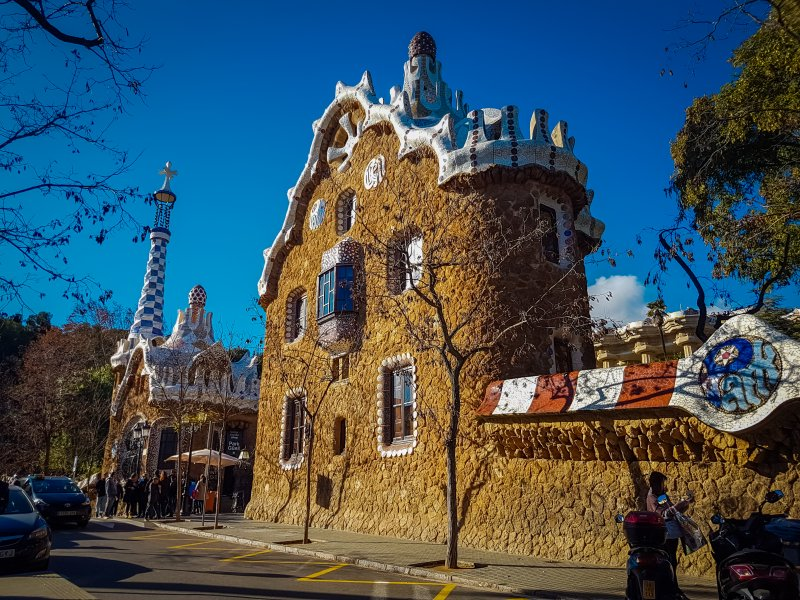 outside park guell