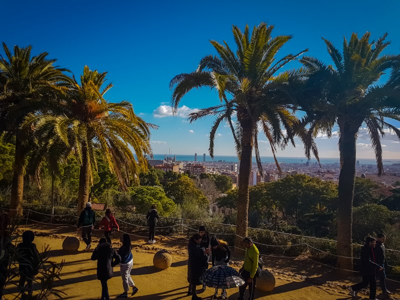park guell views over barcelona