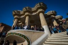 columns gaudi park guell