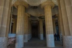 columns underneath park guell