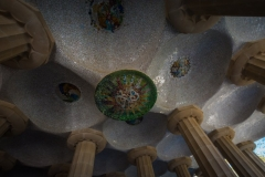 curved roof park guell