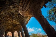 gaudi columns park guell
