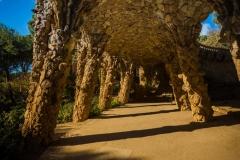 underneath walkways park guell