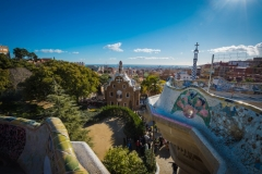 views across barcelonapark guell