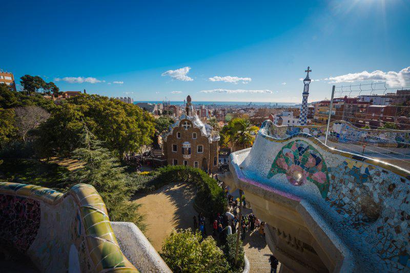 views across barcelonapark guell