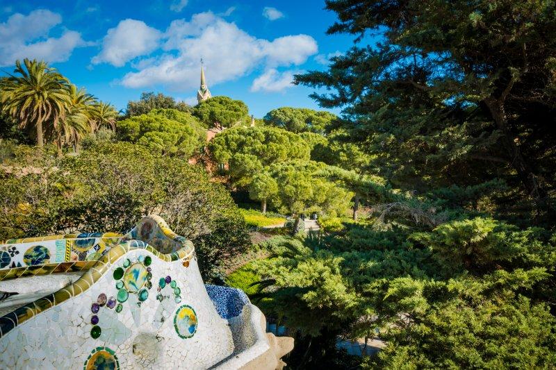 views across gaudis park