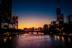 Yarra River Melbourne Sunset