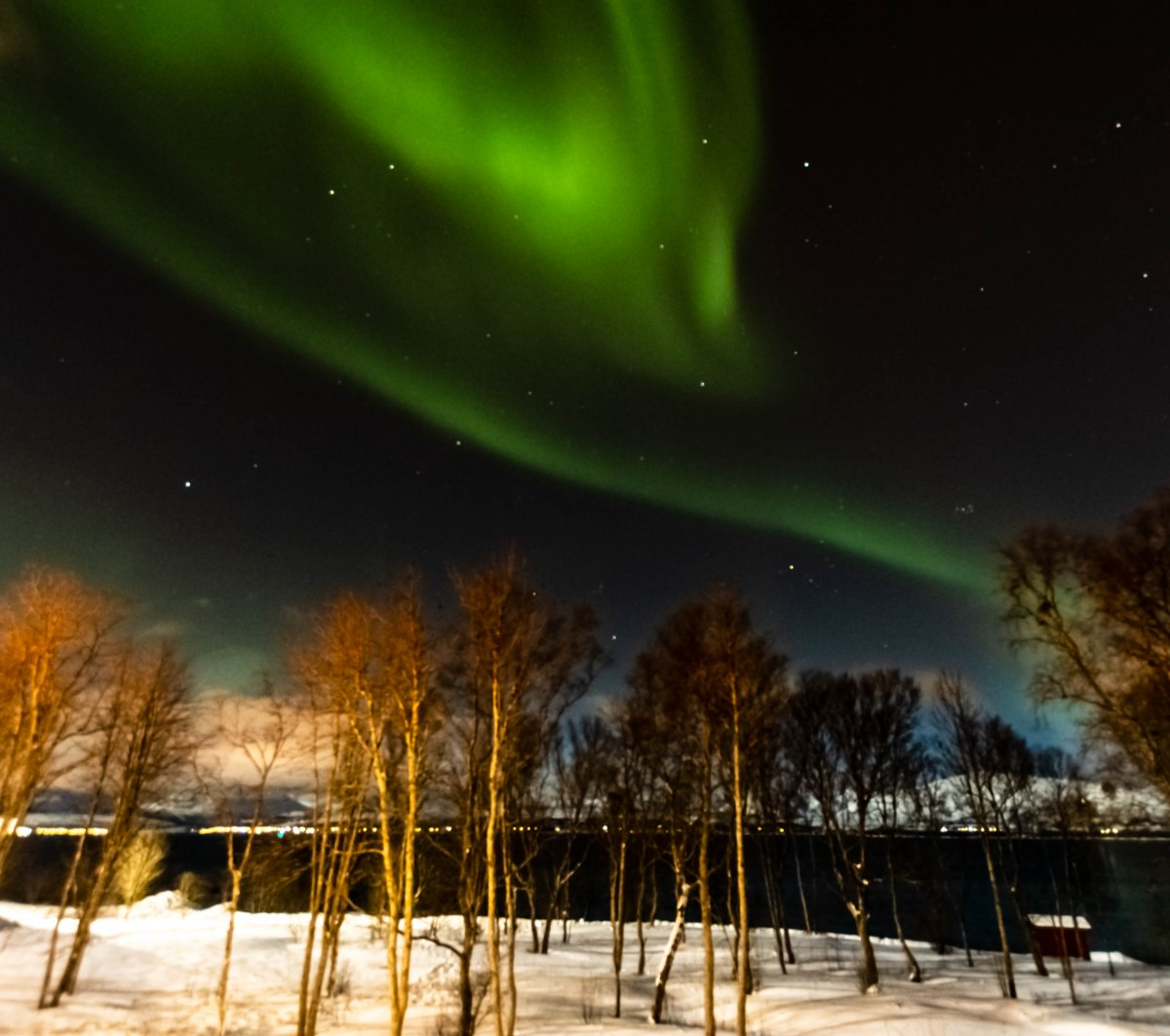Northern lights at Sydspissen